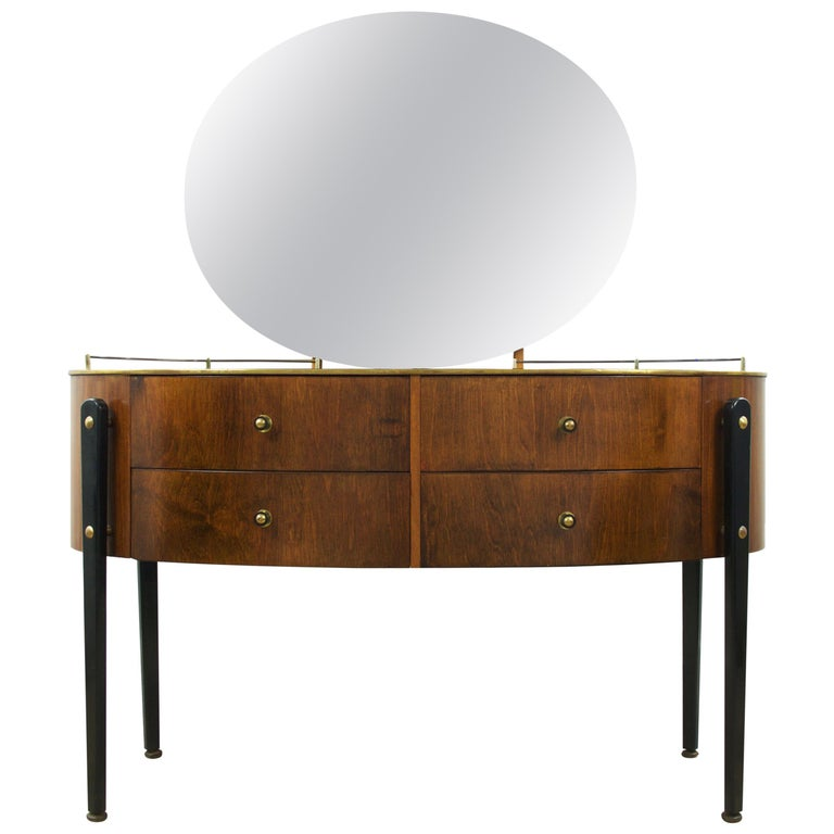 Mid Century Modern Dressing Table Vanity English Circa 1950s For
