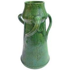 Belgian Art Nouveau Jugendstil Vase Stoneware Pottery Vase, circa 1900
