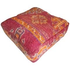 Moroccan Kilim Pouf or Ottoman, LM 1