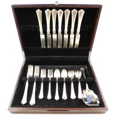 Carmel by Wallace Sterling Silver Flatware Service Set 39 Pcs G Monogram Dinner