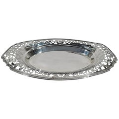 Antique Reed & Barton Pierced Sterling Silver Bread Tray