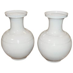 Pair of Pale Turquoise Vases, China, Contemporary