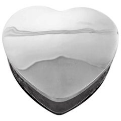 Sterling Heart Shaped Jewelry Box