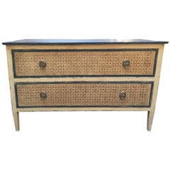 19th Century Neoclassical Style French Two-Drawer Chest with Decorations