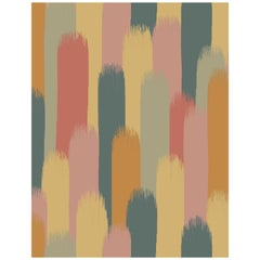 The Vale Wallpaper or Custom Mural on Non-Woven Paper in Color Caraway - Orange
