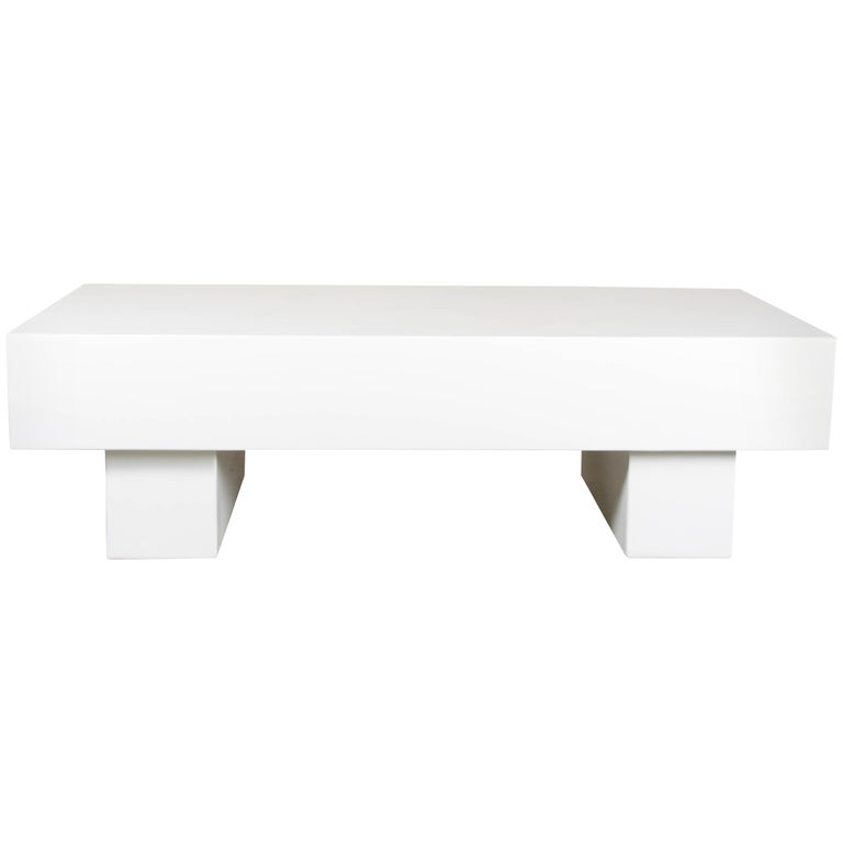 """Low """"T"""" Table, Cream Lacquer by Robert Kuo, Limited Edition"""
