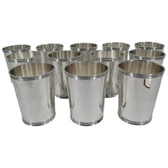 Set of 12 American Sterling Silver Mint Juleps