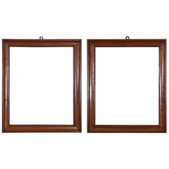 Pair of Italian Late Neoclassical Fruitwood Mirrors from the Mid-19th Century