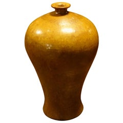 Gold Glazed Vase, China, Contemporary