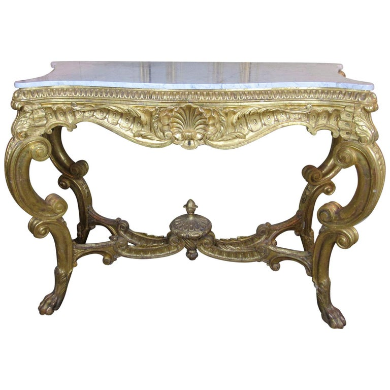 19th Century Louis XV Style Console