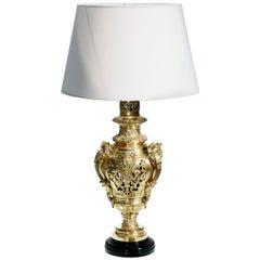 Napoleon III 19th Century French Bronze Lamp