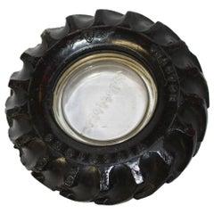 1950s Mini Firestone Rubber Tire Ashtray