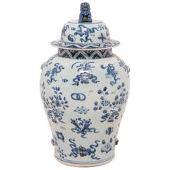 Chinese Scholar's Joy Covered Ginger Jar