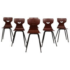 Set of Six Lovely Italian Bentwood Dining Chairs