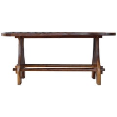 Olive Wood Dining Table, 1960s, France