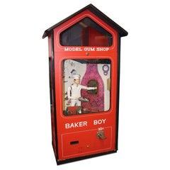 1970s Mechanical Baker Boy Vending 10c Machine