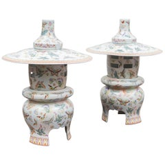 Pair of 20th Century Chinese Porcelain Table Lanterns