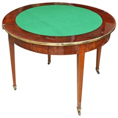Very Rare English 19th Century English Demi -lune Game Table and Console Table