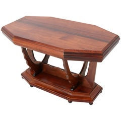 Rosewood Dutch Art Deco Amsterdam School Side Table by Max Coini, 1920s