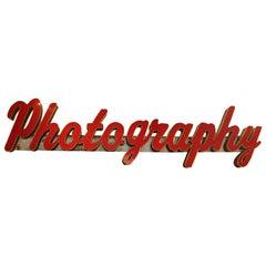 "Large Vintage ""Photography"" Sign"