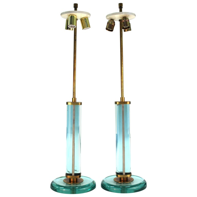 Fontana Arte Italian Modernist Table Lamps Attributed to Pietro Chiesa