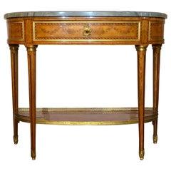 Antique Elegant Satinwood Console, circa 1870