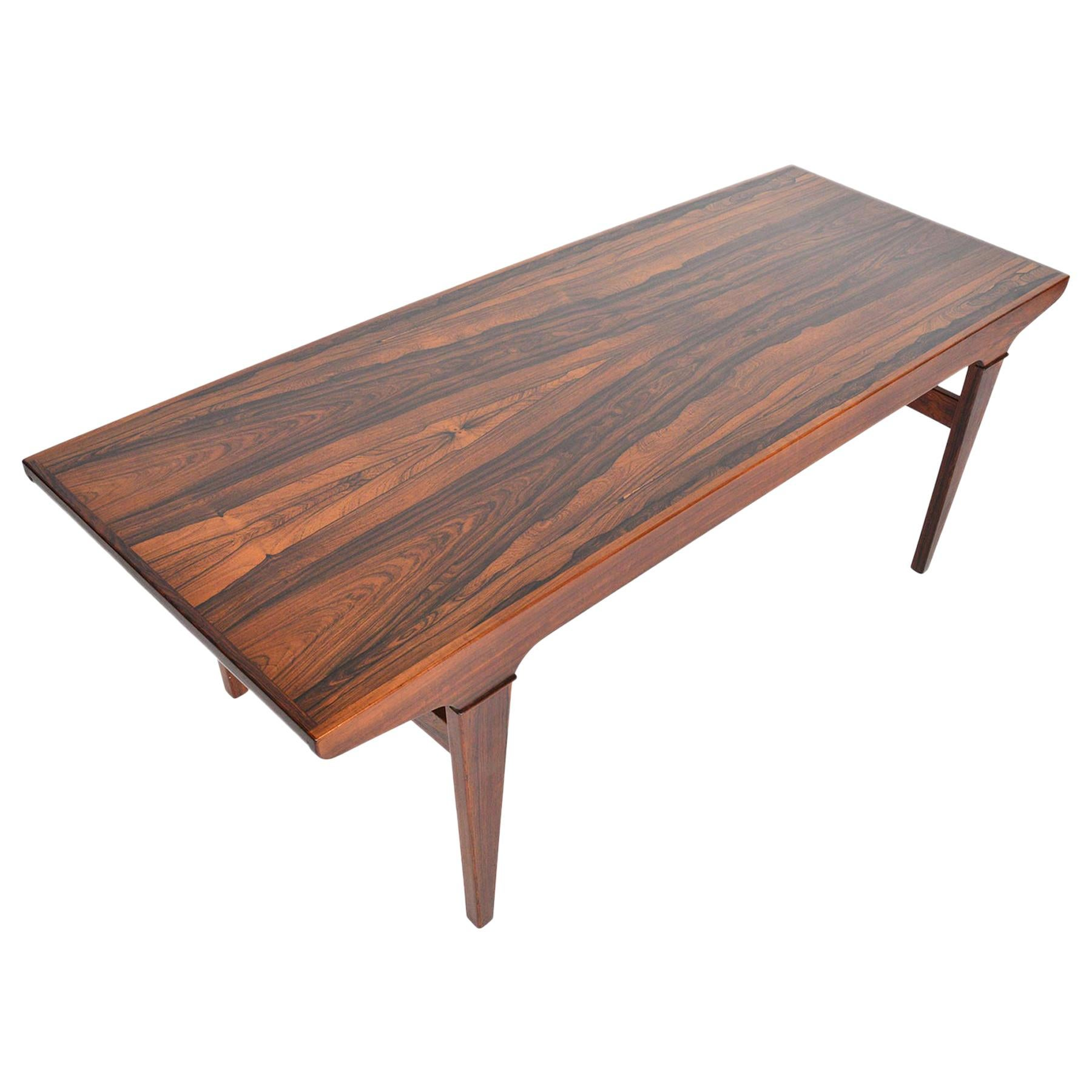 Superior Brazilian Rosewood Coffee Table With Serving Tray