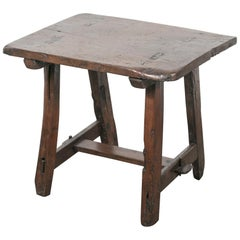 18th Century Rustic French Country Fruitwood Occasional or Side Table
