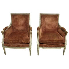 Magnificent Pair of 18th Century French Bergere Chairs