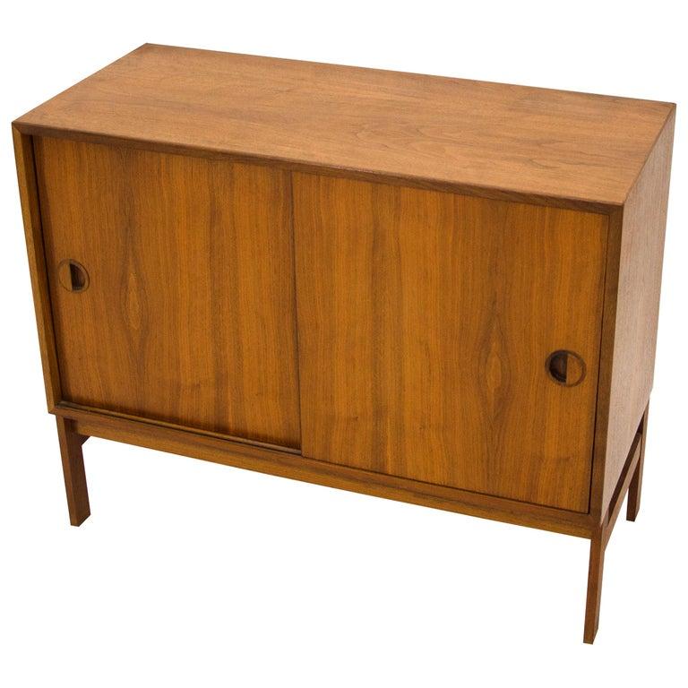 Small Danish Walnut Credenza or Cabinet