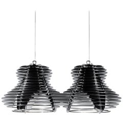 SLAMP Faretto Double Pendant Light in Black by Nigel Coates