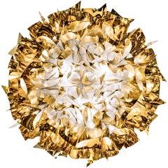 SLAMP Veli Large Flush Light in Gold by Adriano Rachele