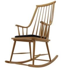 Midcentury Rocking Scandinavian Chair, 1970s