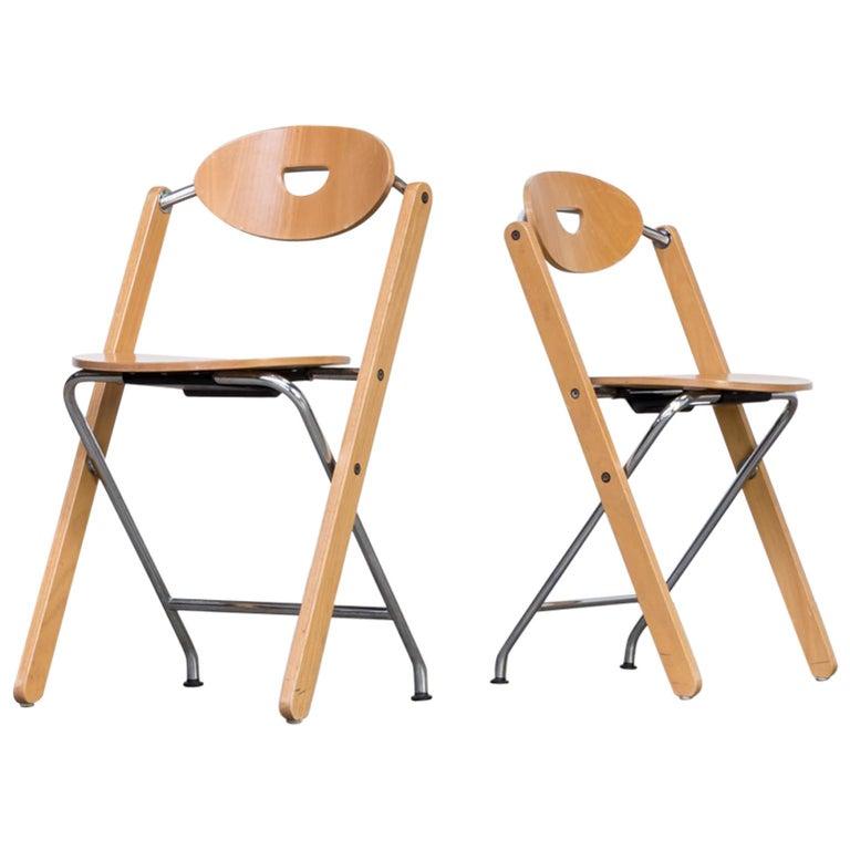 1980s Ruud Jan Kokke Folding Chair for Kembo