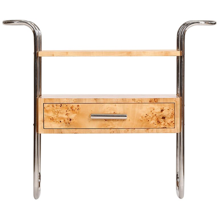 Midcentury Birch Veneered Console Table, 1950s