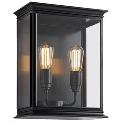 Tekna Fullham-C Wall Light with Dark Bronze Finish and Clear Glass