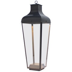 Tekna Montrose Floor Lantern with Dark Bronze Finish and Clear Glass