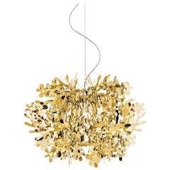 SLAMP Fiorella Mini Pendant Light in Gold by Nigel Coates