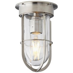 Tekna Docklight Ceiling Light with Brushed Nickel Finish and Clear Glass