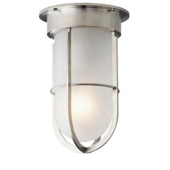 Tekna Docklight Ceiling Light with Brushed Nickel Finish and Frosted Glass