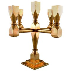 Gusum Metal, Candlestick of Brass for Five Lights, Swedish Design