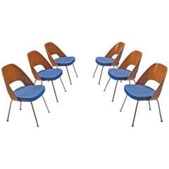 Eero Saarinen for Knoll Set of Six Dining Chairs