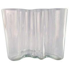 Alvar Aalto, Iittala, Art Glass Vase, Early Edition