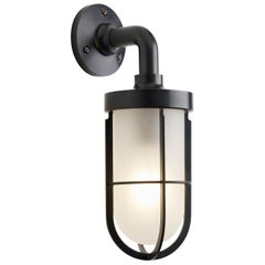 Tekna Docklight Wall Light with Dark Bronze Finish and Frosted Glass