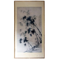 After 董其昌 Dong Qichang, Very Large Chinese Ink Painting of Bamboo, circa 1920-40