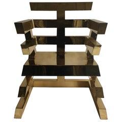 Nicholas Alvisvega Vega's iconic brass Aztec chair 1986