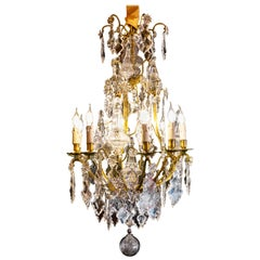 Ormolu and Cut Crystal Chandelier by Cristalleries de Baccarat, circa 1880
