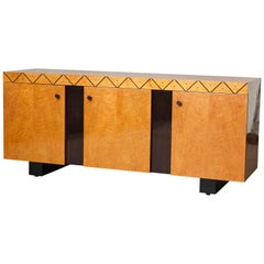 Pace 'Boca' Collection Memphis Style Inspired Lacquered Credenza