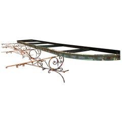 Magnificent French Wrought Iron Pergola with Original Brackets