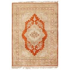 Antique Silk Persian Hajijalili Tabriz Rug